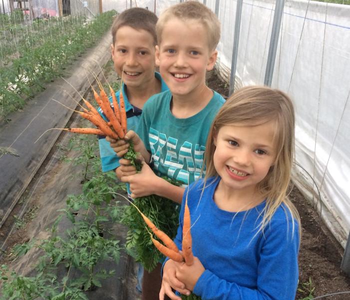 Josiah Elijah Moriah with Carrots